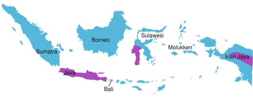Malariagebied Indonesië