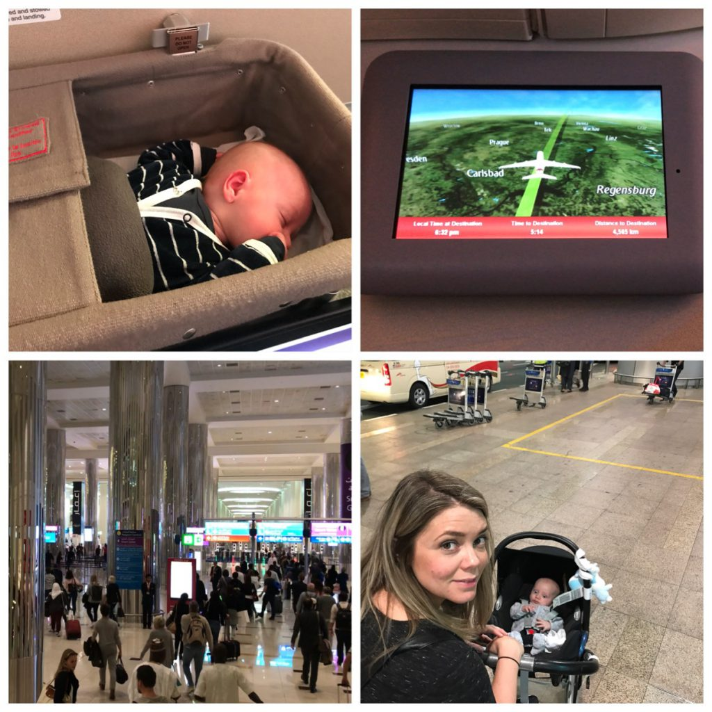 Dubai vakantie met baby vliegen